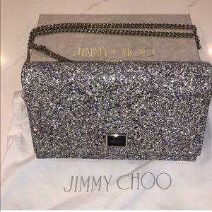 NWT Jimmy Choo Leni glitter crossbody